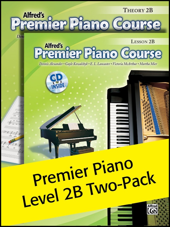 Premier Piano Course, Lesson & Theory 2B (Value Pack)