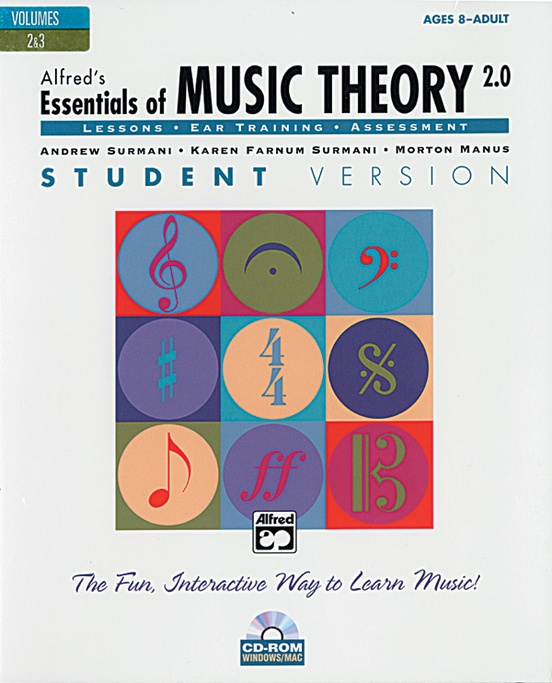 Alfred's Essentials of Music Theory: Software, Version 2.0 CD-ROM Student Version, Volumes 2 & 3