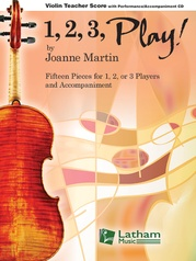 1, 2, 3, Play! - Violin Teacher Score with CD