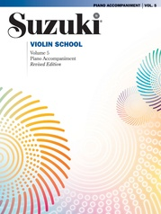 Suzuki Violin School Piano Acc., Volume 5 (Revised)