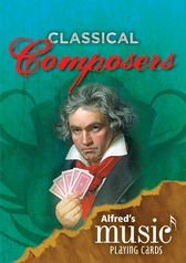 Alfred's Music Playing Cards: Classical Composers (12 Pack)
