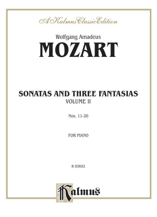 Sonatas and Three Fantasias, Volume II (Nos. 11-20)