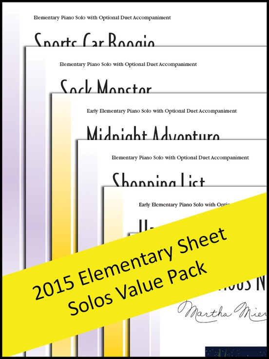 Elementary Sheet Solos 2015 (Value Pack)