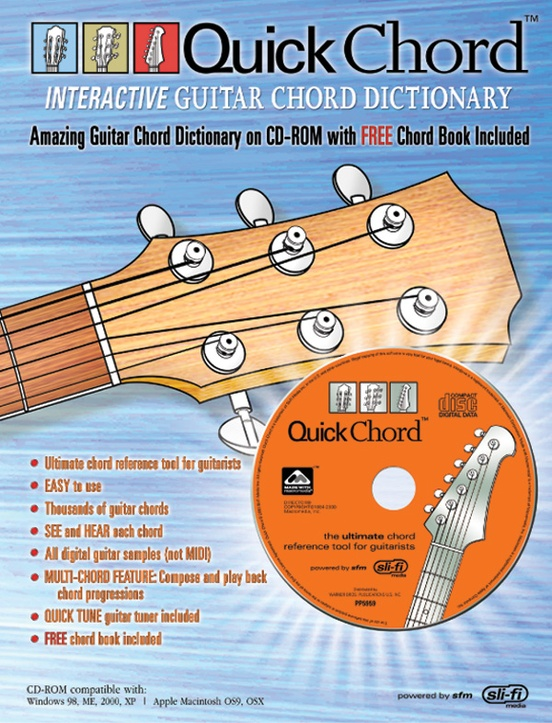Quick Chord Interactive Guitar Chord Dictionary Guitar Book Cd Rom
