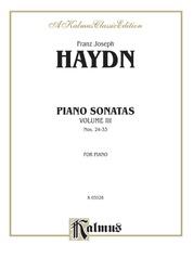 Sonatas, Volume III (Nos. 24-33)