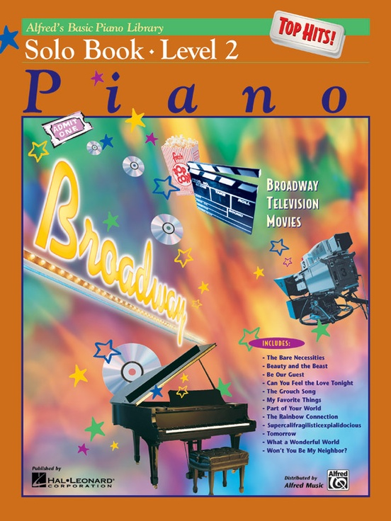 Alfreds Basic Piano Library Top Hits Solo Book 2 Piano Book