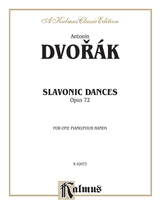 Slavonic Dances, Opus 72