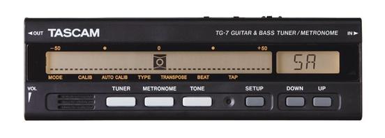 Tascam TG-7 Guitar/Bass Guitar Tuner/Metronome