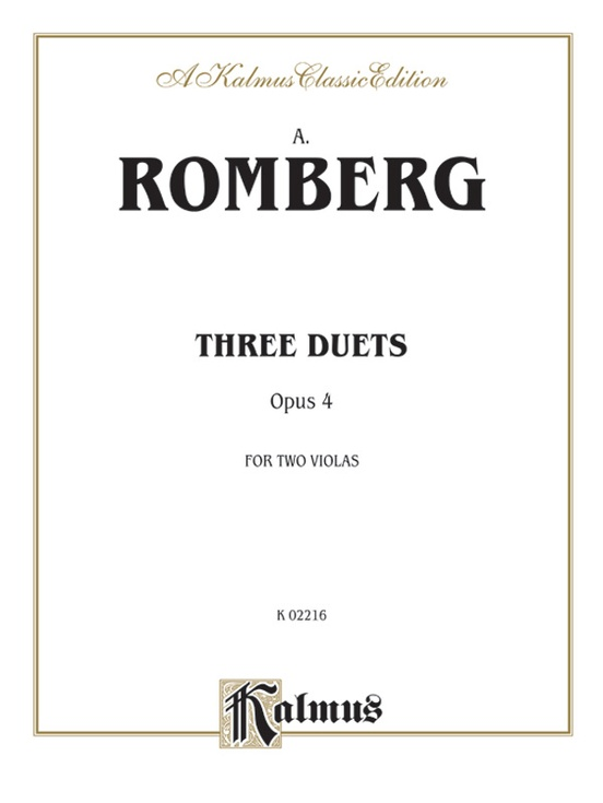 Three Duets, Opus 4