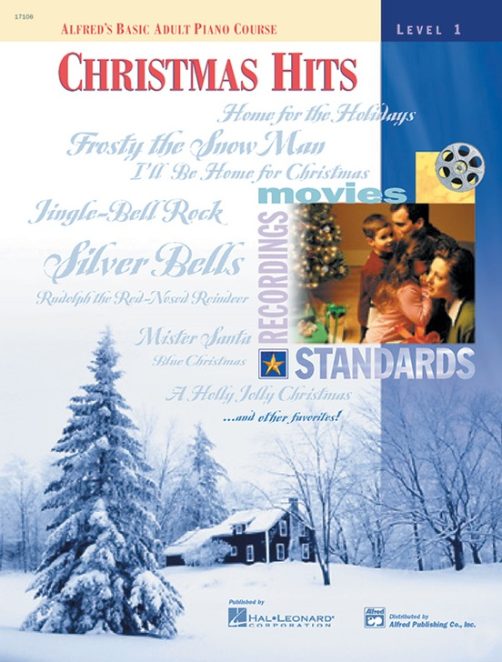 Alfreds Basic Adult Piano Course Christmas Hits Book 1 Piano Book