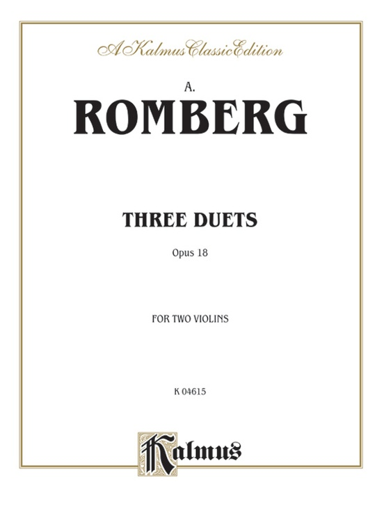 Three Duets, Opus 18