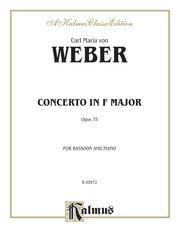 Concerto, Opus 75 in F Major