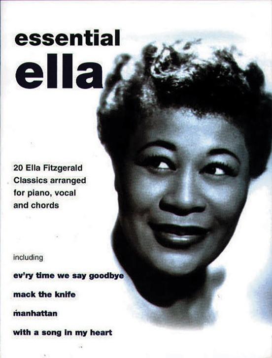 Ella Fitzgerald Essential Ella Pianovocalchords Book Ella