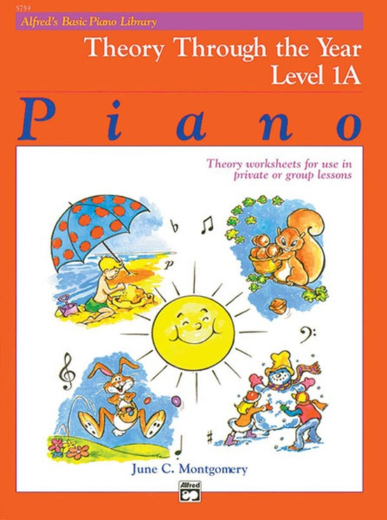 Alfred's Basic Piano Library: Theory Through the Year Book 1A