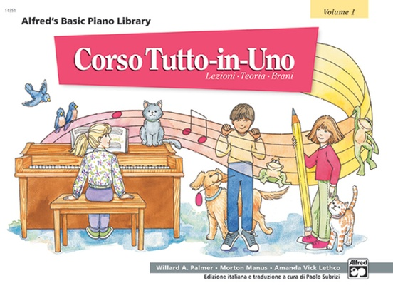 Alfred's Basic All-in-One Course Italian Edition, Book 1 [Corso Tutto-in-Uno]