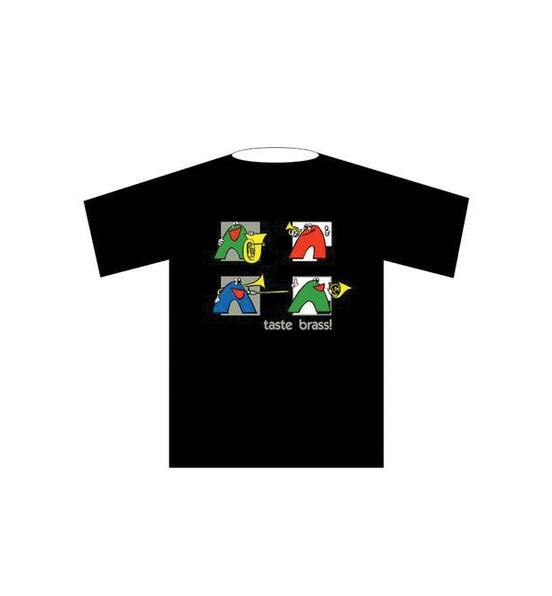 Taste Brass! T-Shirt: Black (Large)
