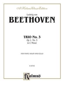 Piano Trio No. 3 in C Minor, Opus 1, No. 3