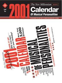 John Brimhall's 2001 Calendar of Musical Personalities