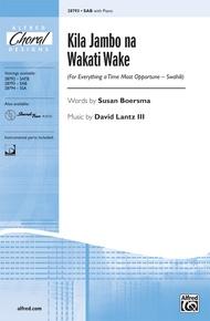 Kila Jambo na Wakati Wake
