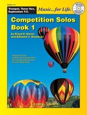 Competition Solos, Book 1 Trumpet, Tenor Sax or Euphonium TC