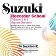 Suzuki Recorder School (Soprano Recorder) CD, Volume 3 & 4