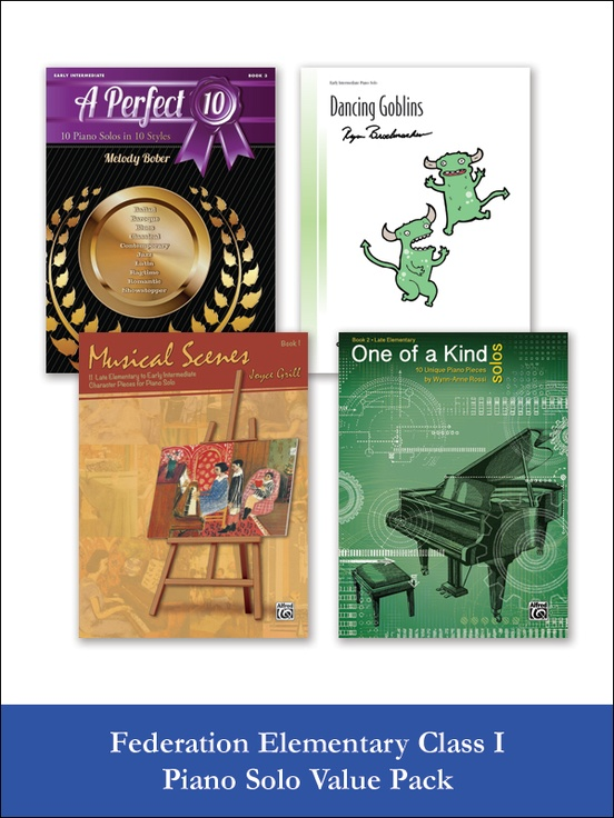 Federation Elementary Class I Piano Solo (Value Pack)