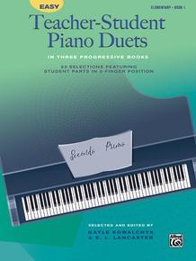 Easy Teacher-Student Piano Duets in Three Progressive Books, Book 1