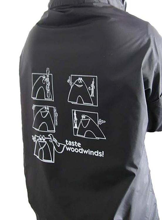 Taste Woodwinds! Raincoat: Black (Extra Large)