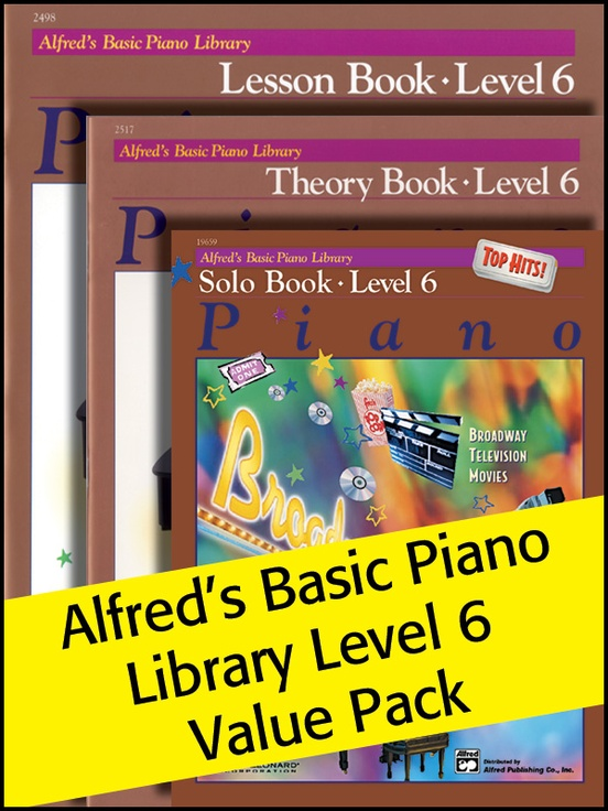 Alfred's Basic Piano Library 6 2012 (Value Pack)