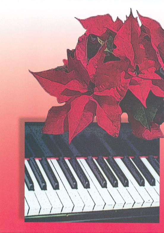 Schaum Recital Programs (Blank) #61: Poinsettia and Piano