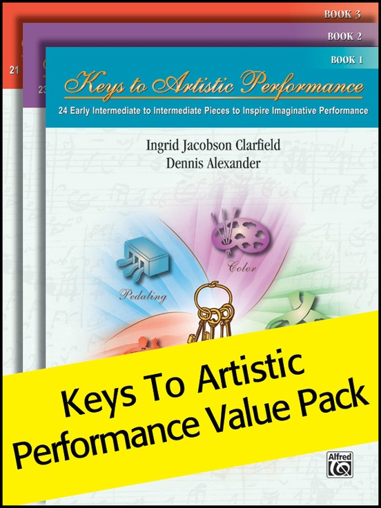 Keys to Artistic Performance 1-3 (Value Pack)
