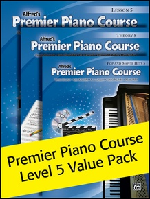 Premier Piano Course, Lesson, Theory & Pop Hits 5 (Value Pack 2012)