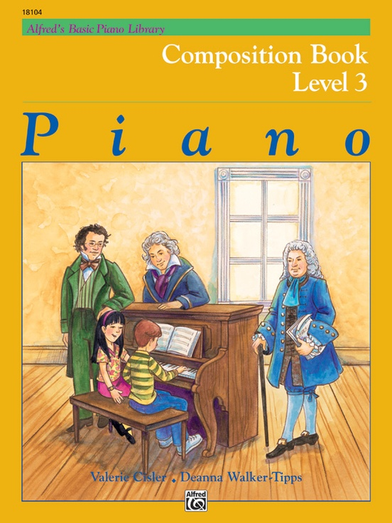 Alfred's Basic Piano Library: Composition Book 3