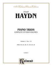 Trios for Violin, Cello and Piano, Volume I (Nos. 1-6, HOB. XV: 25, 26, 27, 28, 29, 24)
