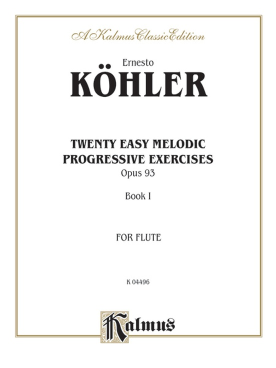 Twenty Easy Melodic Progressive Exercises, Opus 93, Book I
