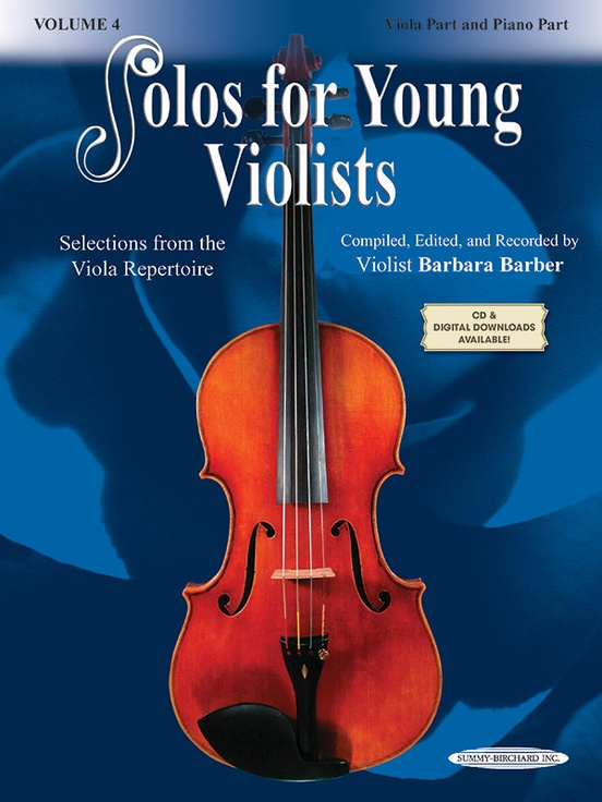 Solos for Young Violists Viola Part and Piano Acc., Volume 4