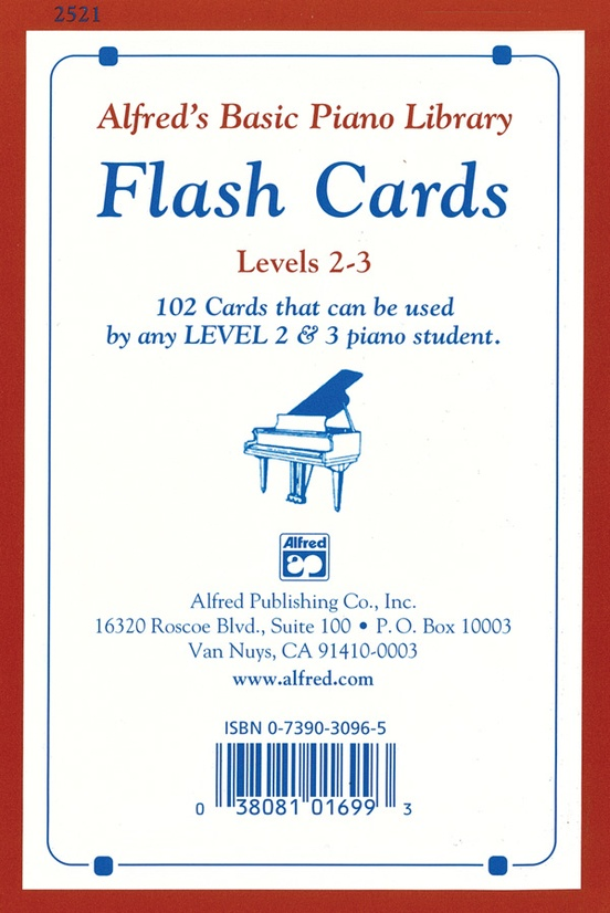 Alfred's Basic Piano Library: Flash Cards, Levels 2 & 3