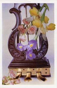 Schaum Recital Programs (Blank) #20: Pedal Lyre with Flowers