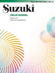 Suzuki Cello School Cello Part, Volume 10 (includes Piano Acc.)