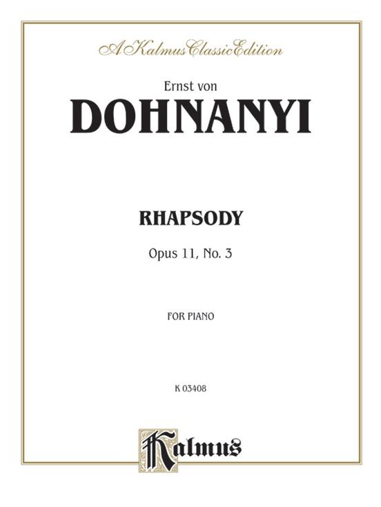 Rhapsody, Opus 11, No. 3