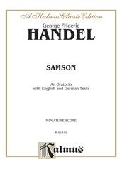 Samson (1743), An Oratorio