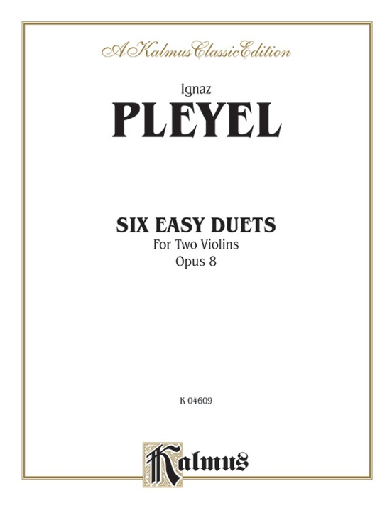 Six Easy Duets, Opus 8