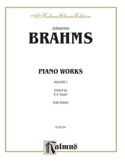 Piano Works, Volume I (Opus 1 to Opus 24)
