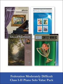 Federation Moderately Difficult Class I-II Piano Solo (Value Pack)