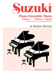 Suzuki Piano Ensemble Music, Volume 1 for Piano Duo