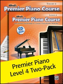 Premier Piano Course, Lesson & Theory 4 (Value Pack)
