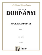 4 Rhapsodies, Opus 11