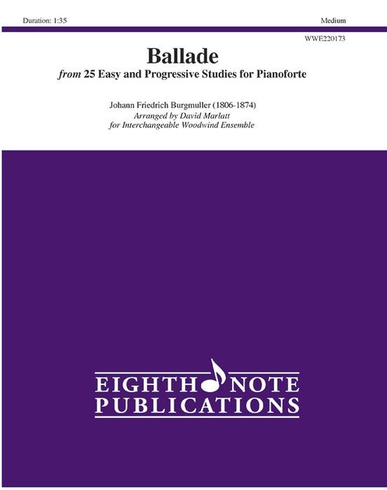 """Ballade"" from 25 Easy and Progressive Studies for Pianoforte"