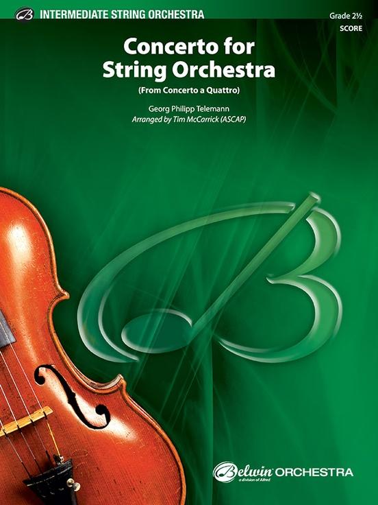 Concerto for String Orchestra (from Concerto a Quattro)