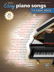 Alfred's Easy Piano Songs: Classic Rock